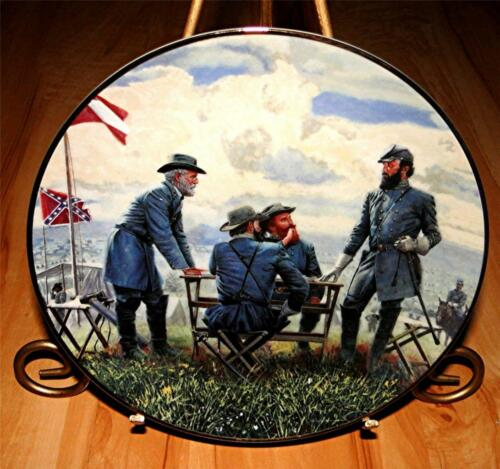 Planning The Attack JACKSON AND LEE LEGENDS IN GRAY Danbury Mint CIVIL WAR Plate