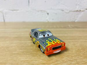 Darrell Cartrip Commentator Silver Flames Disney Pixar Diecast Cars