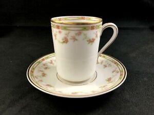 Theodore-Haviland-Limoges-France-Schleiger-346-Chocolate-Cup-amp-Saucer-Set