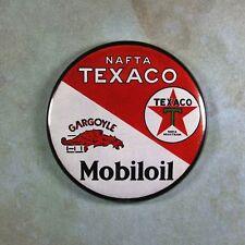 """Vintage Style Advertising Sign Fridge Magnet 2 1/4""""  Motor Oil Texaco Gargoyle"""