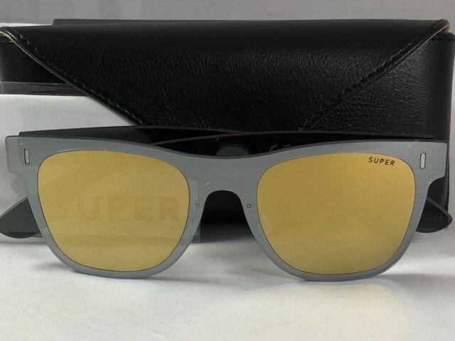 f862bccd7f New Super Retrosuperfuture 86W Duo Lens Classic Gold Silver Sunglasses Size  55mm