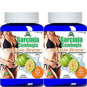 2 100 Pure Garcinia Cambogia Extract Mega Extreme 1000mg Pure Hca