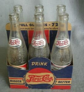 Details About Diffe Pepsi Carrier Cardboard 1930 S Era Clean With 6 Bottles Htf