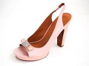 Marc-Jacobs-High-Heel-Sandals-Powder-Pink-Leather-Womens-Size-US-7-EU-37-5-380
