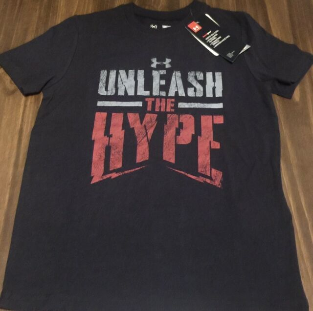 NWT Under Armour M Boys Orange//Gray//Black UNLEASH THE HYPE Shirt YMD