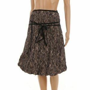 SAND-Skirt-Black-amp-Nude-Lace-Print-lace-Up-Puffball-Size-40-UK-14-NP-851
