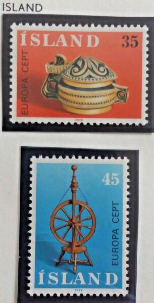2 X Timbre Stamp Islande Island 1976 Yt467 468 Europa Cept Neufs