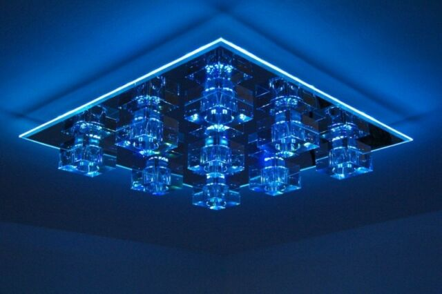 Design LED RGB  Farbwechsel Deckenleuchte mit Fernbedienung Deckenlampe Lampe
