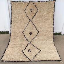 Moroccan Authentic Rug Carpet Beni Ourain Handmade Knotted 100% Natural Wool
