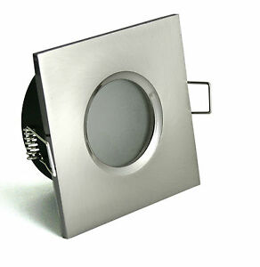 einbaustrahler bad dusche milchglas ip65 gu10 led 5w 7w 8w warmweiss licht spot ebay. Black Bedroom Furniture Sets. Home Design Ideas
