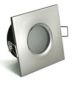 badeinbaustrahler quadratisch led feuchtraum ip44 spot downlight gu10 badezimmer ebay. Black Bedroom Furniture Sets. Home Design Ideas