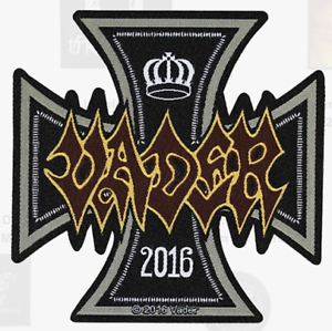 VADER-IRON-CROSS-WOVEN-PATCH-BRAND-NEW-MUSIC-BAND-2880