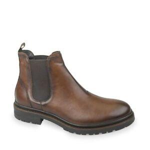 VALLEVERDE-49850-Beatles-Botines-Zapatos-Hombre-de-Cuero-Marron