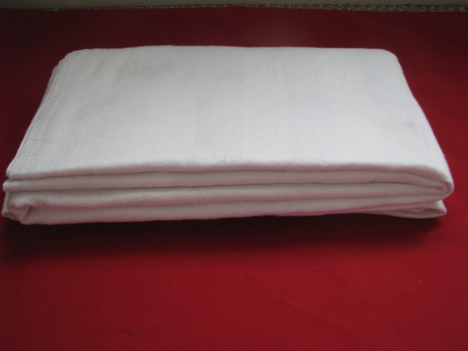 (2) White 66 x90  (Twin Size) Soft Cotton Thermal Blankets (2.5 lbs.each)