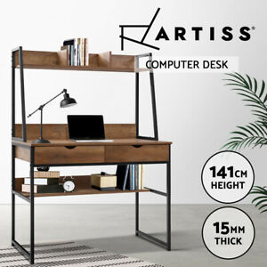 Artiss Office Computer Desk Study Table Workstation Bookshelf Storage Drawers