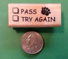 Pass/Try Again, Teacher's general grading rubber stamp