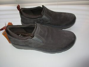 Details about Clarks Seamless Leather MAX CUSHION SOFT FOOTBED Men Loafer Shoes 12M