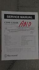 sherwood cdm-1260r service manual repair book stereo compact disc cd player part