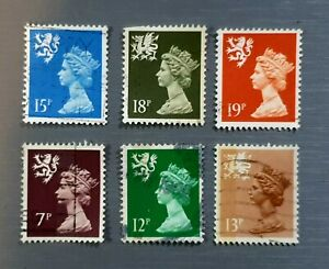 Queen-Elizabeth-II-Postage-Stamps-Lot-of-6-Fine-Used