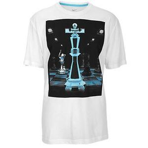 "b75dd484 Nike LeBron James ""King Piece"" Dri-Fit T-Shirt White Men's Large XL ..."