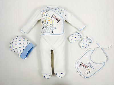 56//62 ♥ Neu ♥ Babykleidung |5-teilig| Erstausstattung |Gr 0-4 Monate |