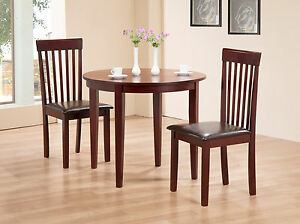 Terrific Details About Dining Kitchen Table Extending Folding Round Table Two Chairs Mahogany Finish Gmtry Best Dining Table And Chair Ideas Images Gmtryco