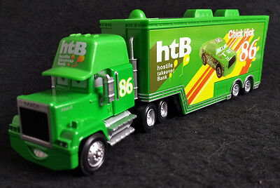 Custom Disney Pixar Cars Movie Chick Hicks Hauler Truck Super-Liner Trailer