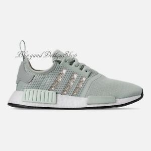 a1c35b92bd18d Details about NWT Women's Bling Adidas NMD R1 Shoe Custom with Swarovski  Crystals New in Box