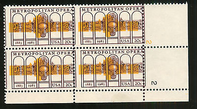 U.s Misperf And Color Shifted Plate Block Of 4 - 2054 Never Hinged Relieving Rheumatism And Cold