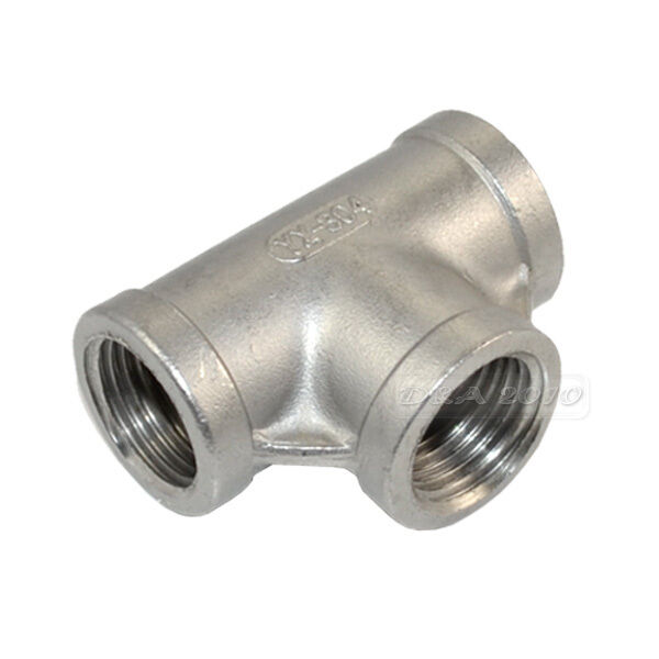 """1/8""""-2"""" Tee 3 way Female Stainless Steel 304 Threaded Pipe Fitting BSP NEW"""