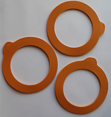 Kilner Jar Replacement Rubber Seals Orange Fit 0 35 0 5 1
