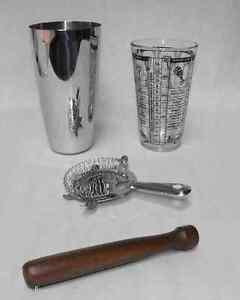 BOSTON COCKTAIL SHAKER Pro Bartender Drink Mixing /& Bartending Kit 5 pc