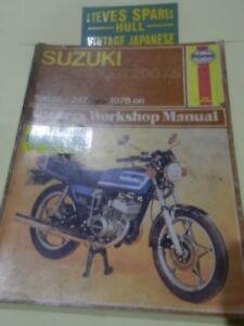 suzuki gt250 x7 gt200x5 sb200 models 1978 on haynes workshop rh ebay co uk Suzuki GT750 Suzuki GT250 Parts