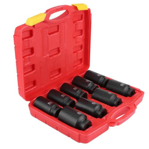 "9Pcs 1//2/"" Inch Drive Axle Hub Nut Hex Socket Set 29//30//31//32//33//34//35//36//38mm"