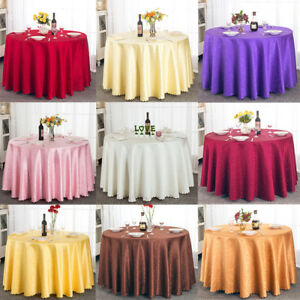 Round-Jacquard-Tablecloth-Table-Cover-Kitchen-Dinning-Wedding-Party-Table-Cloth