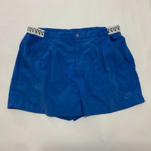 Vintage NIKE CHALLENGE COURT Shorts Blue Size 36