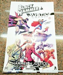 Black-Hammer-Justice-League-Poster-DC-Comics-SIGNED-Michael-Walsh-amp-Nate-Piekos