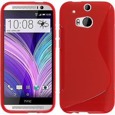 Silikon Hülle für HTC One M8 rot S-Style Case