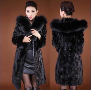 Jacket Size Outwear Fox Fur Parkas Collar Plus Hooded Thick Coat Kvinders Mink zB8wff