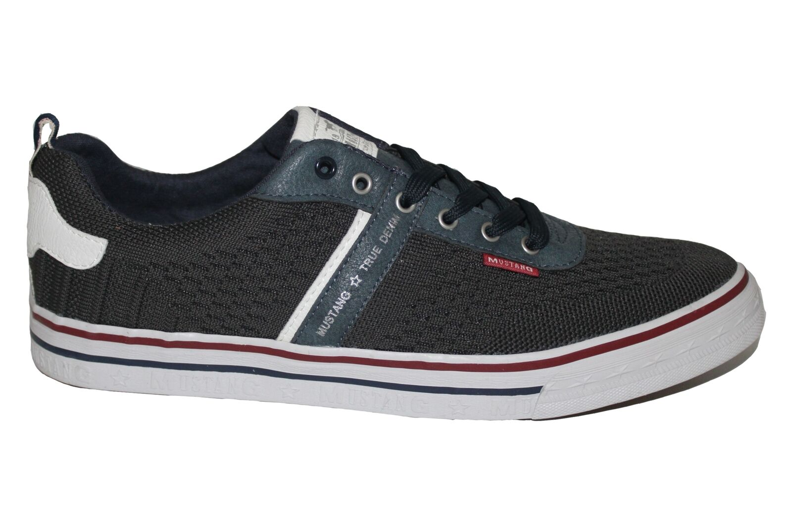 Mustang Navy Mens Mesh Tennis Casual Summer Trainers Shoes