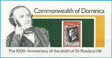 Dominica aus 1979 ** postfrisch Block 53 MiNr.619 - 100. Todestag Rowland Hill!