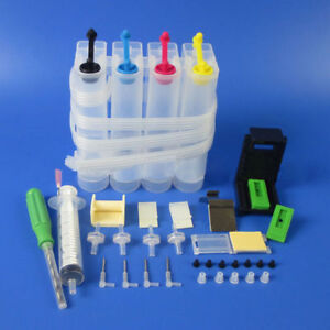 New-Refillable-Refill-Ink-Cartridge-CISS-Fitting-Kit-Set-For-Print-Printer