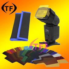 20pcs Strobist Flash Color card diffuser Lighting Gel Pop Up Filter