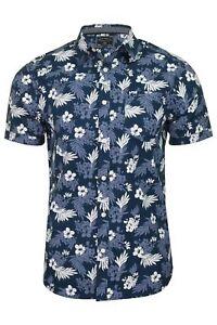 Tokyo-Laundry-Mens-039-Fermont-039-Hawaiian-Floral-Shirt-Short-Sleeved