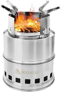 SOLEADER Portable Wood Burning Camp Stoves - Compact Gasifier Stove - Twig St...