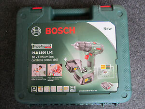 Genuine Empty Carry Case for Bosch PSB 1800 LI-2 18V Cordless Impact Drill 7625664489249