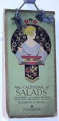 1915 NEW CALENDAR OF SALADS 365 recipes + dressings Elizabeth O. Hiller SC