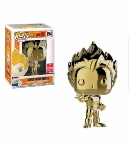 SDCC SUPER SAIYAN oro Chrome VEGETA Funko POP Vinyl Nuovo in Box + P/P