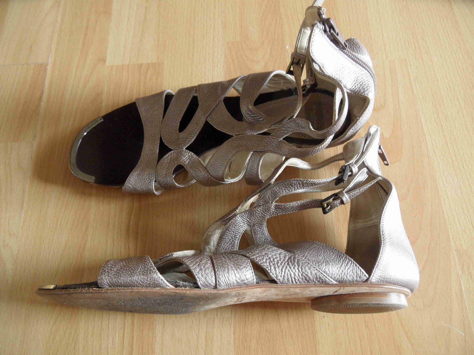BALDAN  High Sandals Roman Sandals Taupe Metallic Size 40 41top 615