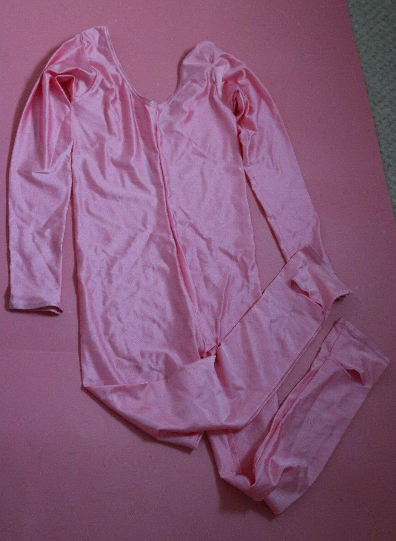 Adagio Baby Pink Nylon Lycra Long Sleeved Catsuit Junior Age 7 – 9 NEW